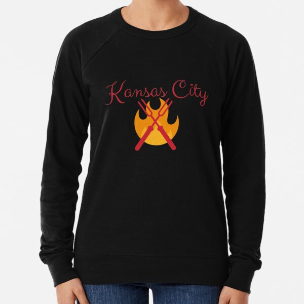 Kansas City BBQ Grill Shirt Sticker Lightweight Sweatshirt