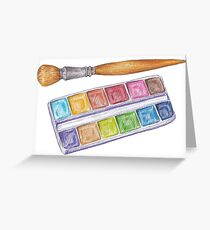 palette with brush Greeting Card