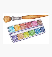 palette with brush Photographic Print