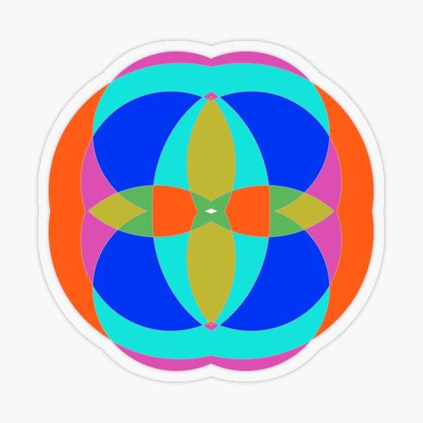 Circle, 2D shape Transparent Sticker