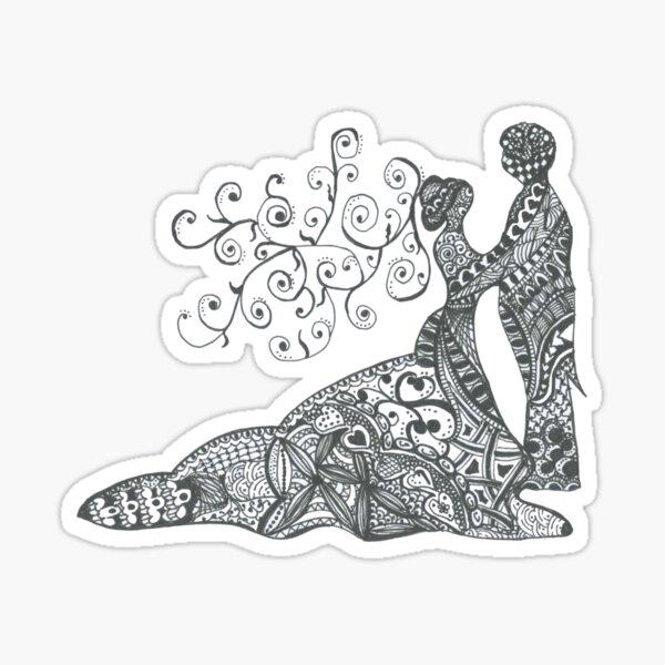 "Doodle Art ""Wedding"" Sticker"