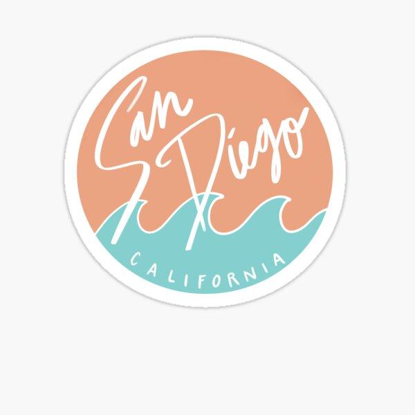 San Diego, California Sticker Pink Solid Sticker