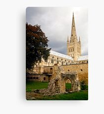 Cathederal and remains Canvas Print