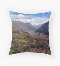 sacred valley  Throw Pillow