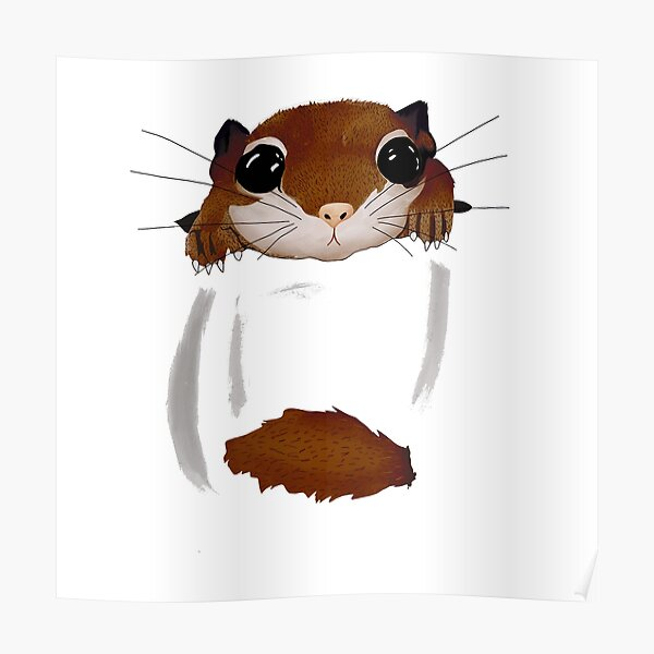 Copy of Southern Flying Squirrel Dale In A Pocket Poster