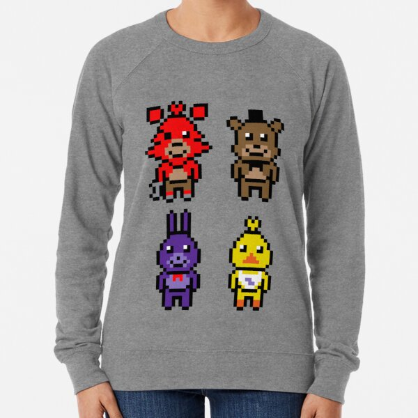 Pixel Nights At Freddy's Lightweight Sweatshirt