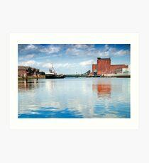 Alexandra dock Grimsby Art Print