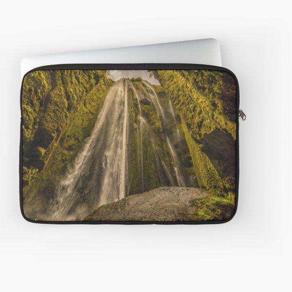 Gljufrabui cave waterfall in Iceland Laptop Sleeve