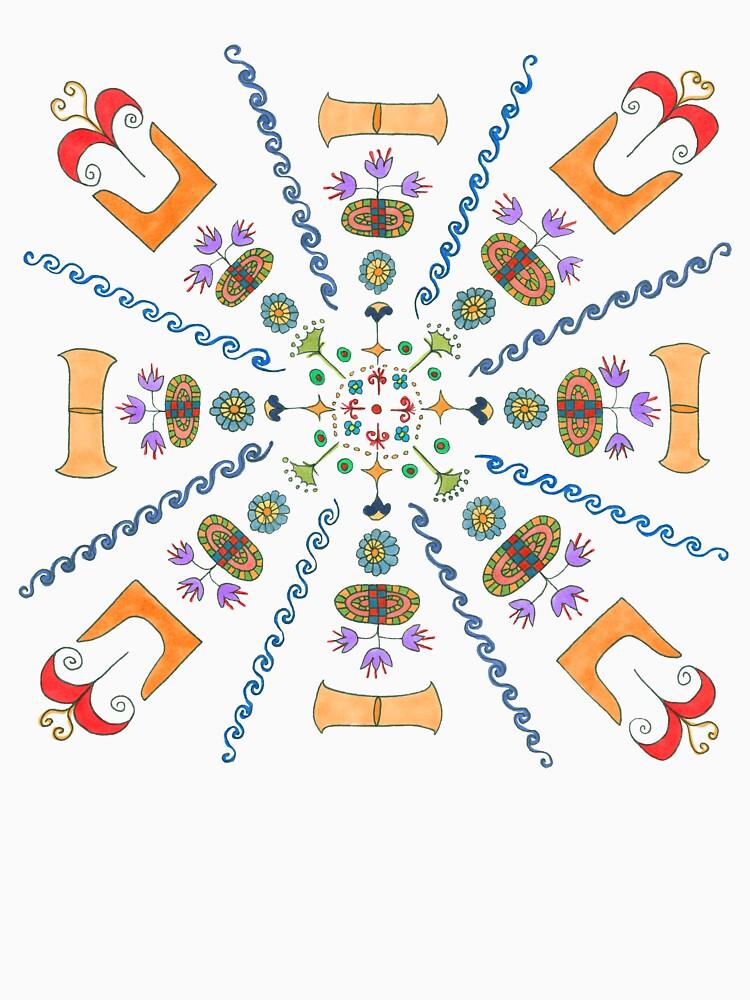 Full Color Minoan Mandala by MsLauraPerry