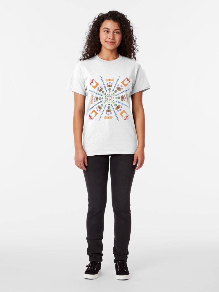 Alternate view of Full Color Minoan Mandala Classic T-Shirt