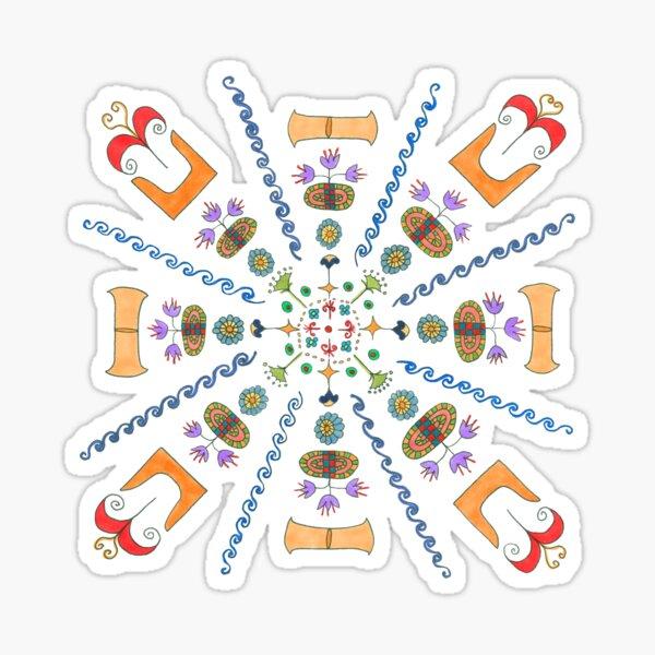 Minoan Mandala Sticker
