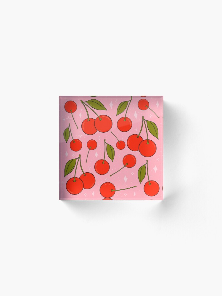 Alternate view of Cherries on Top Acrylic Block