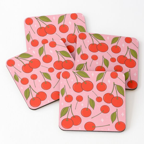 Cherries on Top Coasters (Set of 4)