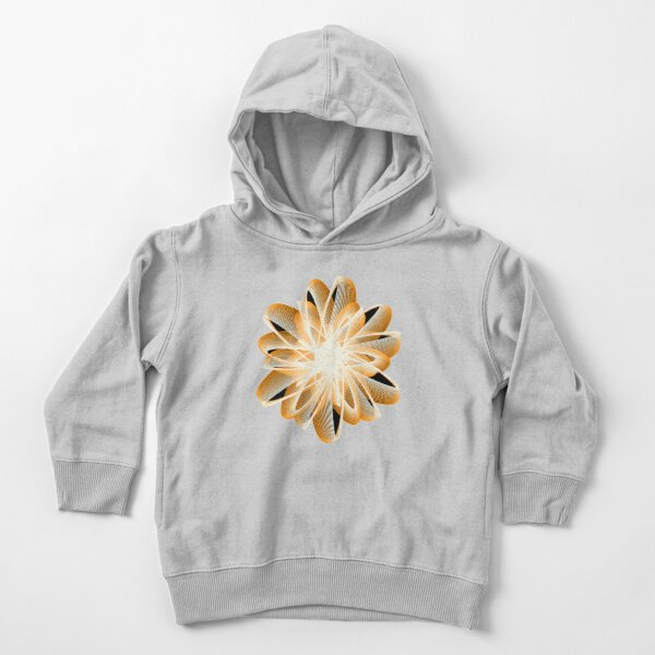 Abstract Flower in Orange Black White Toddler Pullover Hoodie