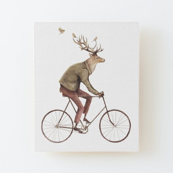 Even a Gentleman rides Wood Mounted Print