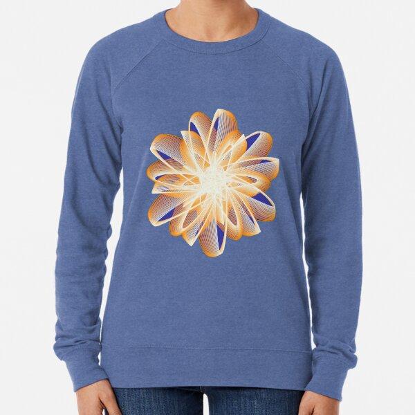 Abstract flower in orange Lightweight Sweatshirt