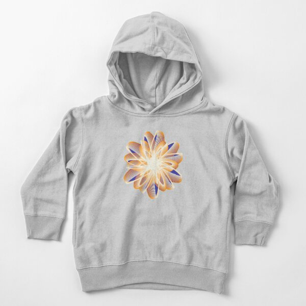 Abstract flower in orange Toddler Pullover Hoodie