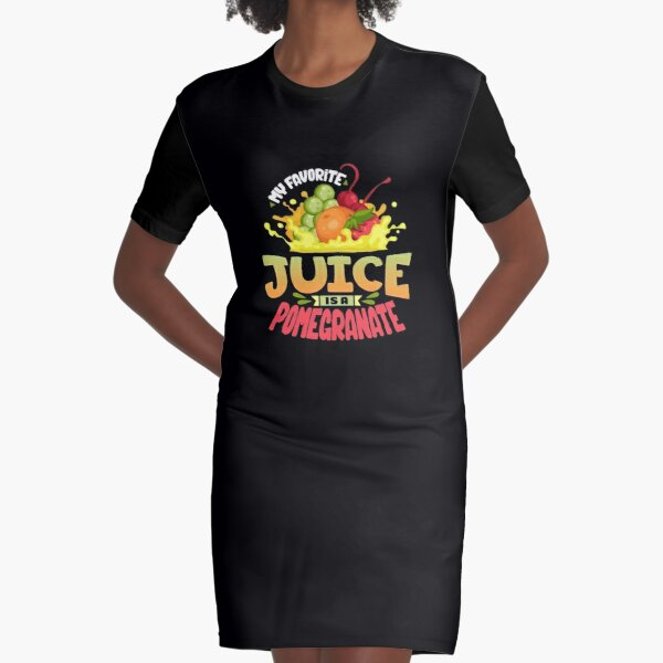 Pomegranate Juice Graphic T-Shirt Dress
