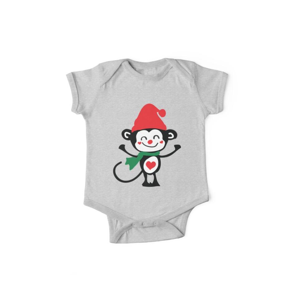 Cute monkey Santa Claus by cheeckymonkey