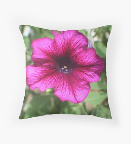 Psychedelic Petunia Throw Pillow
