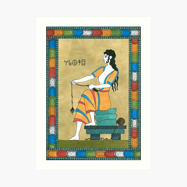 10 Fate from The Minoan Tarot Art Print