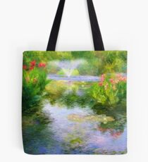 Watergarden In Monet Style Tote Bag