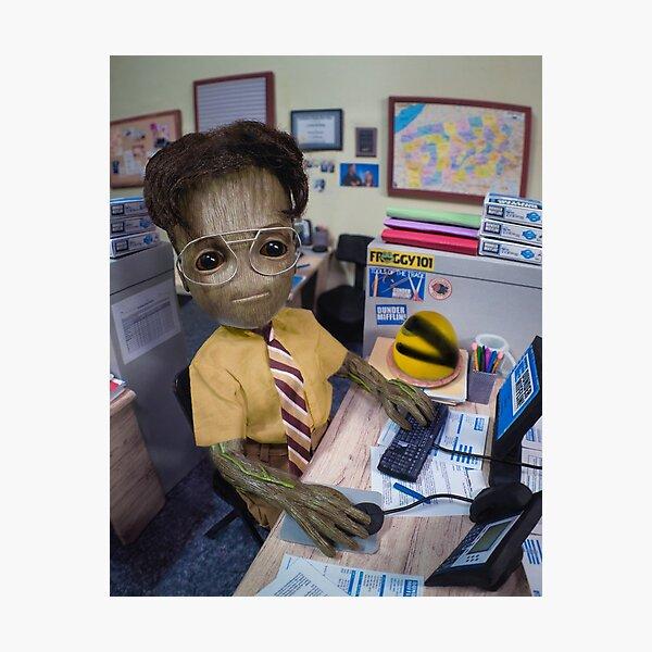 Office Desk Job Photographic Print