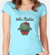 Hello Cthulhu! Women's Fitted Scoop T-Shirt