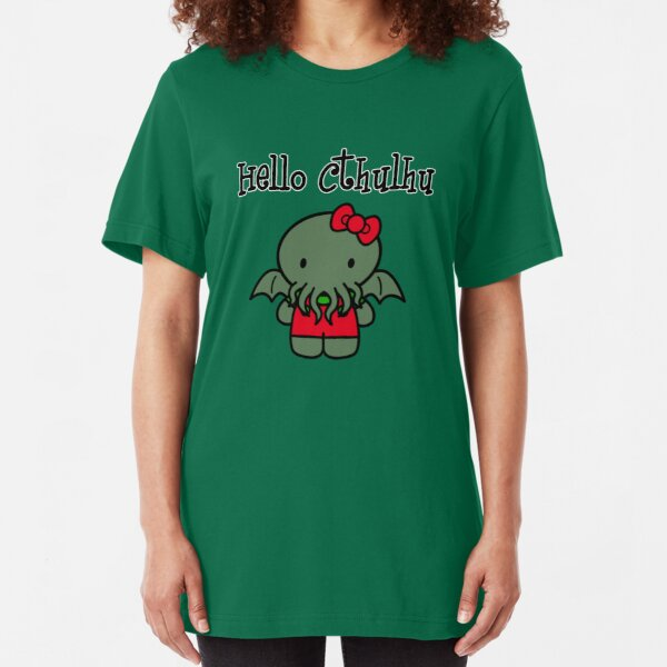 Hello Cthulhu! Slim Fit T-Shirt
