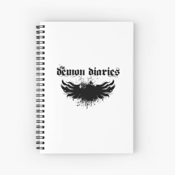 The Demon Diaries - Black Logo Spiral Notebook