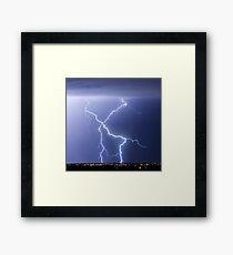 X Lightning Bolt in the Sky Framed Print