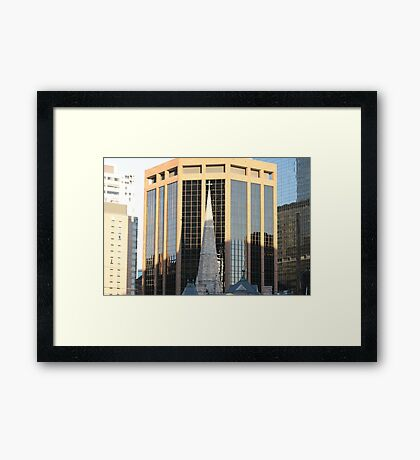 Downtown Faith Framed Print