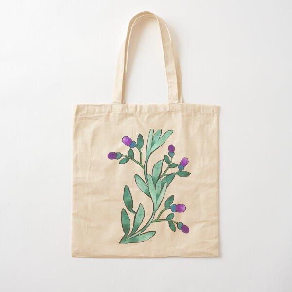 Watercolor floral bouquet pattern Cotton Tote Bag