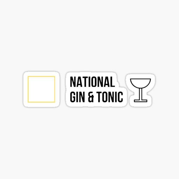 National Gin & Tonic Sticker