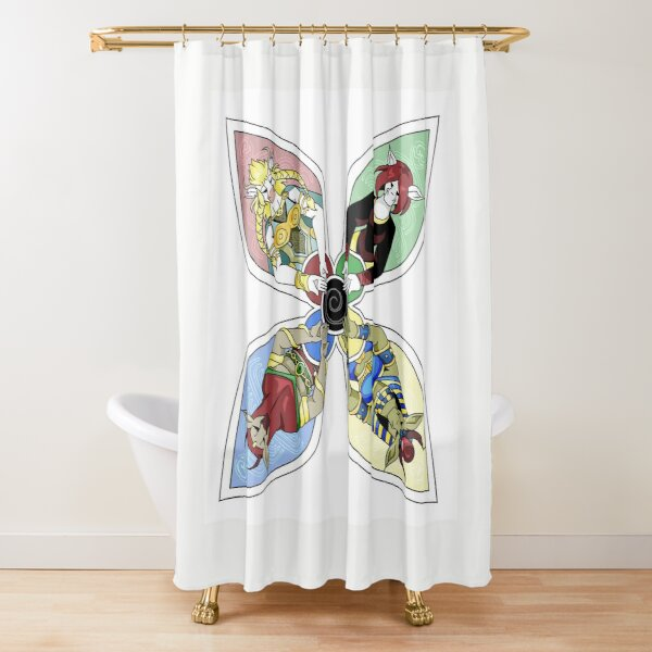 The Prelapsarian Bovine Gods Shower Curtain