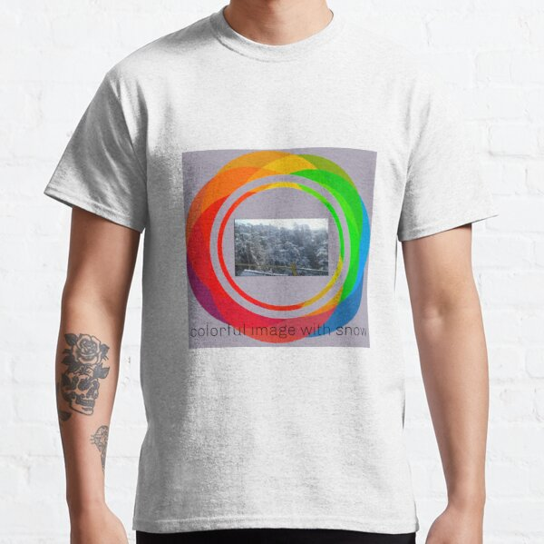 Colorful design with natural snow image Classic T-Shirt