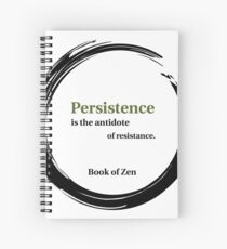 Motivation and Persistence Quote Spiral Notebook
