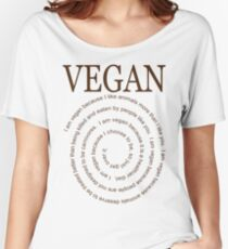 Vegan Because Women's Relaxed Fit T-Shirt