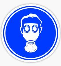 Gas Mask Road Sign Die Cut Sticker Sticker