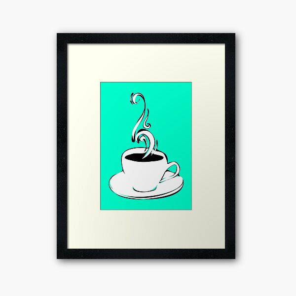 coffee curls Framed Art Print