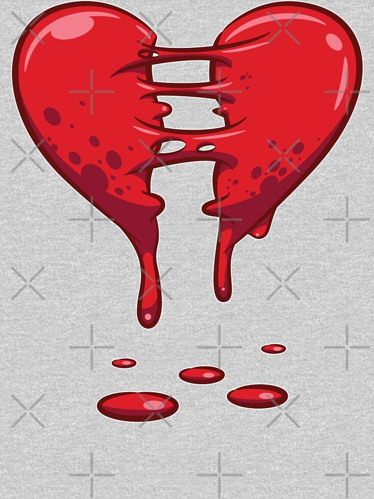 Dripping Broken Healing Heart Valentines Day by Teeleo