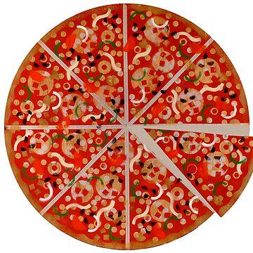 New York Pizza Pie stencil graffiti by rolandhill90