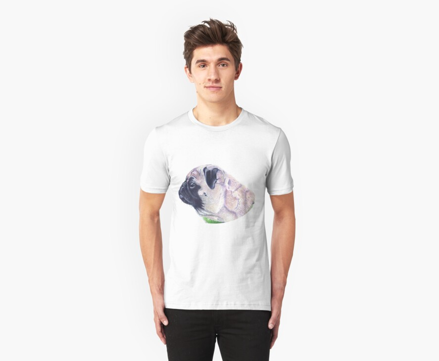 Pug Portrait T-shirt or Hoodie by Patricia Barmatz