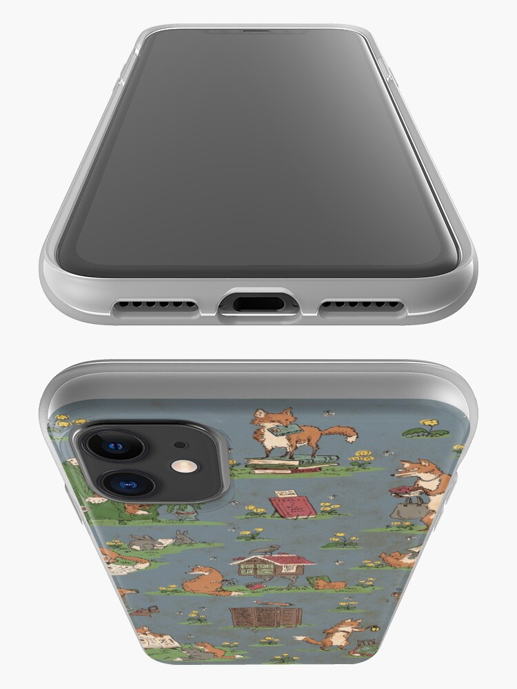 Alternate view of Library Foxes iPhone Case & Cover