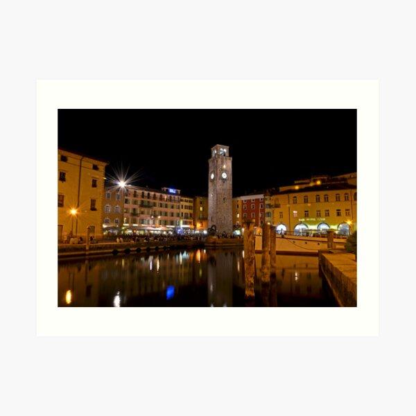 Notte a Riva del Garda Art Print