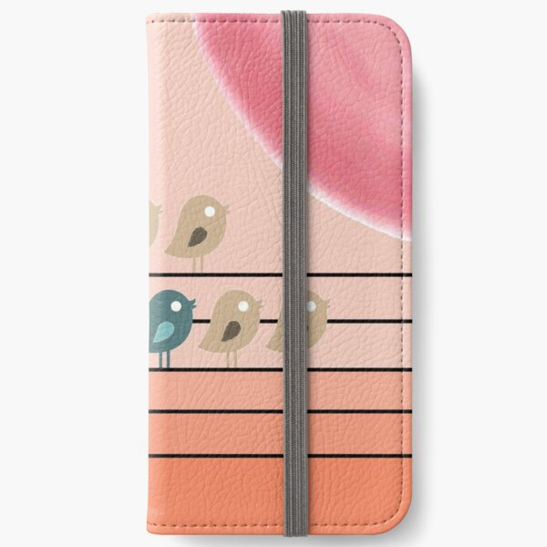 Songbirds on Electrical Wires iPhone Wallet