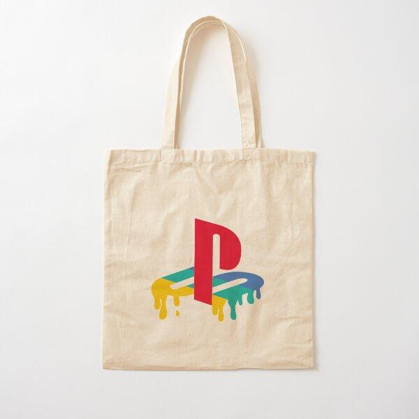 Playstation Drip Logo Cotton Tote Bag