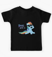 My Little Pony - MLP - Rainbow Dash - Deal With It Kids T-Shirt