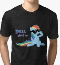 My Little Pony - MLP - Rainbow Dash - Deal With It Tri-blend T-Shirt
