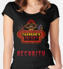 Five Nights at Freddy's - FNAF 3 - Fazbear's Fright Security Women's Fitted Scoop T-Shirt
